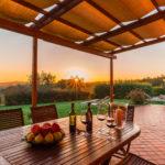 patio tramonto Casale La Desdemona
